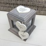 Shabby Chic PERSONALISED Rustic Wood In Memory Of Husband Photo Cube ANY NAMES - 253967165137
